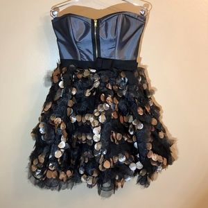 Straples Homecoming or prom dress